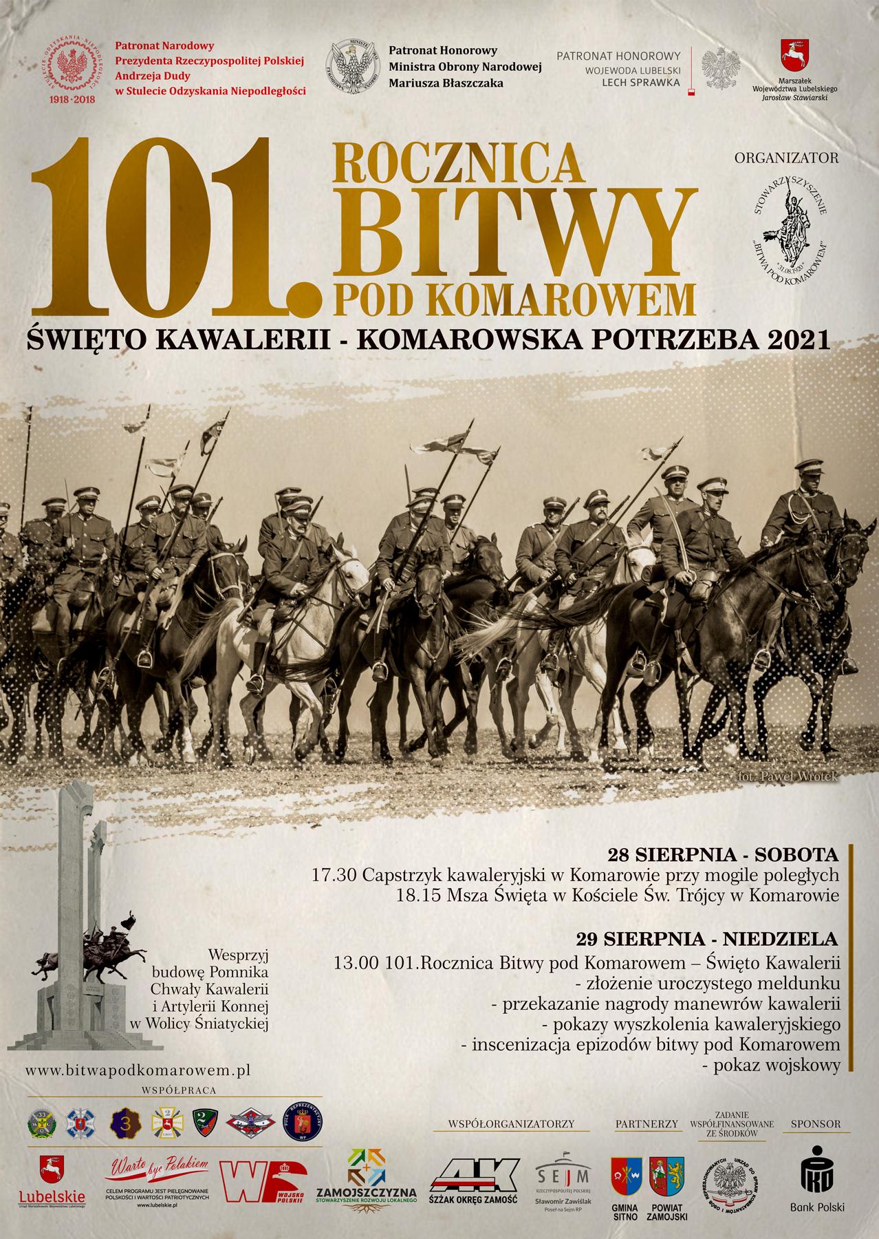 komarow 2021 plakat ost Zbliża się 101. rocznica Bitwy pod Komarowem. Jak postepują prace przy budowie pomnika bitwy?