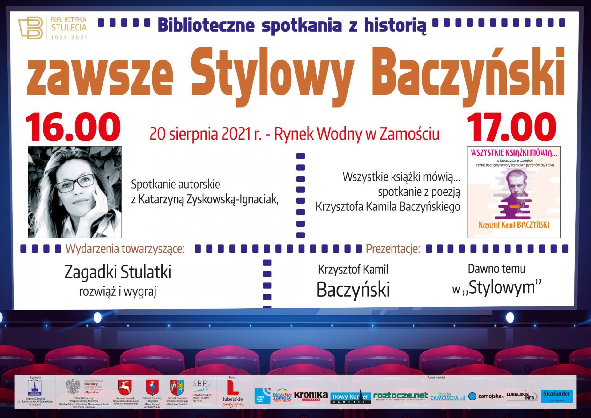 plakat 04 ZAMOŚĆ: Biblioteczne spotkania z historią pod hasłem