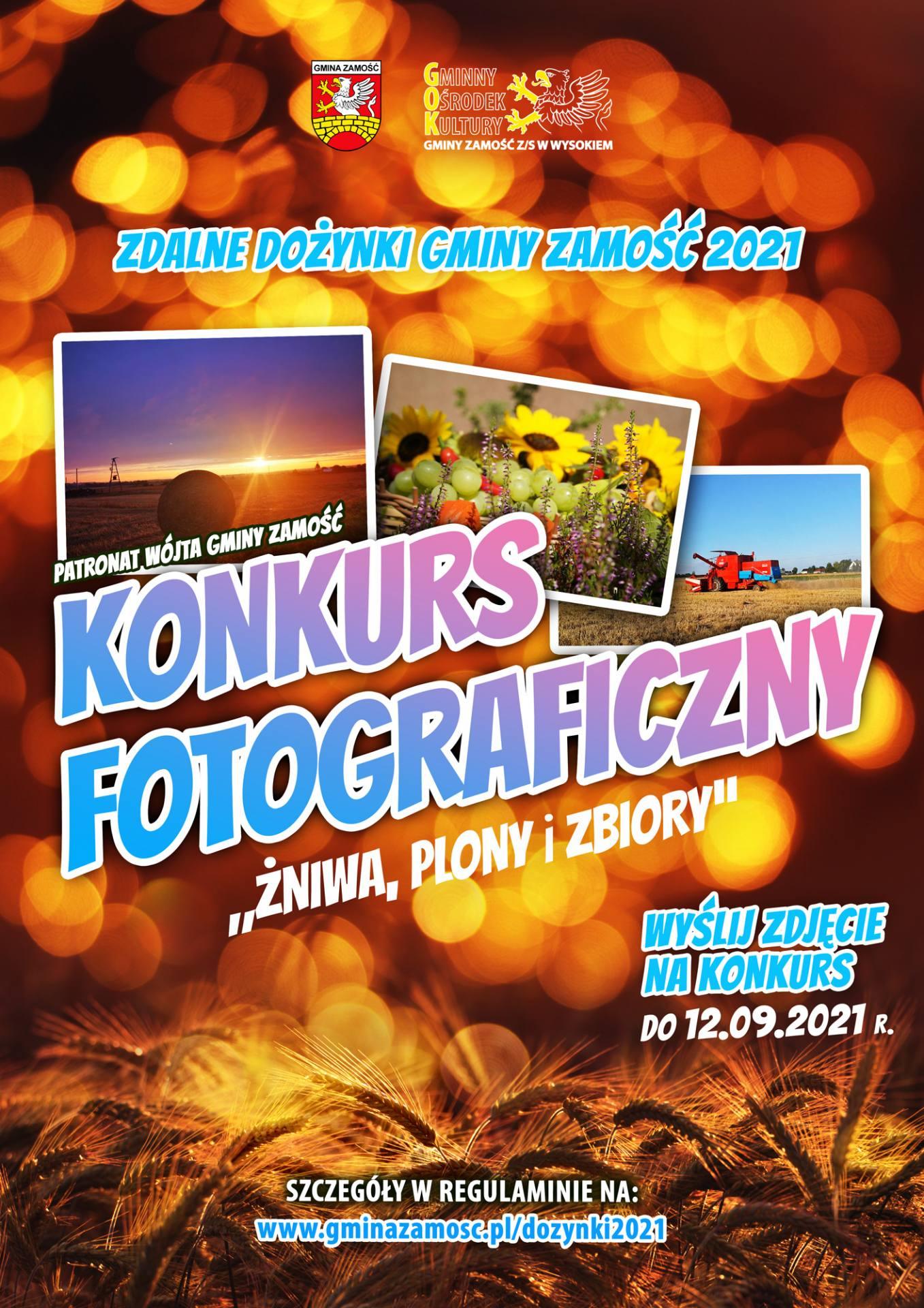 plakat foto konkursu gm zamosc 2021 Nagrody pieniężne w Foto-Konkursie