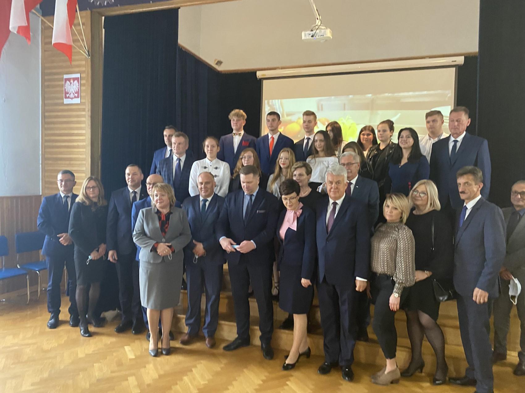 02 Wizyta ministra Przemysława Czarnka w Branżowej Szkole w Szczebrzeszynie