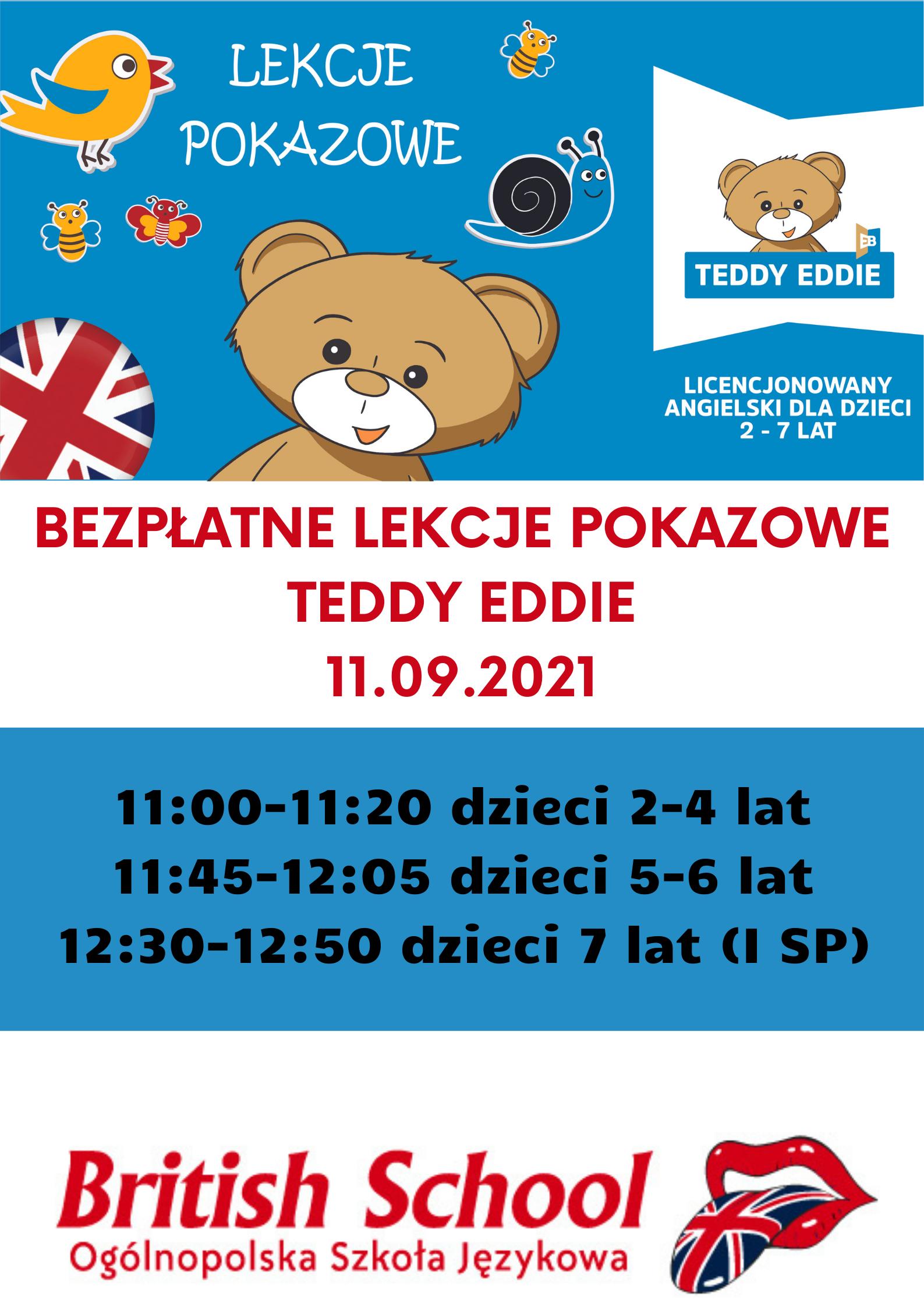 bezplatne lekcje pokazowe teddy eddie 11092021 Dzień Otwarty w British School Zamość