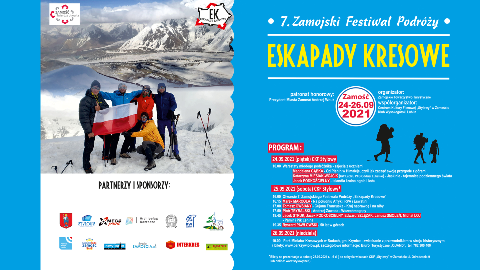 """eskapady Przed nami 7. Zamojski Festiwal Podróży """"Eskapady Kresowe"""""""
