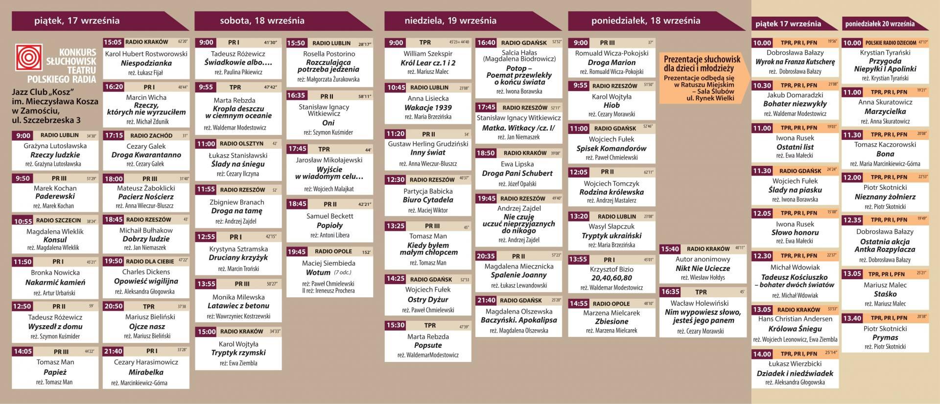 program 2t spektakle plus sluchowiska 2 Festiwal Dwa Teatry zagości w Zamościu. Co w programie wydarzenia?