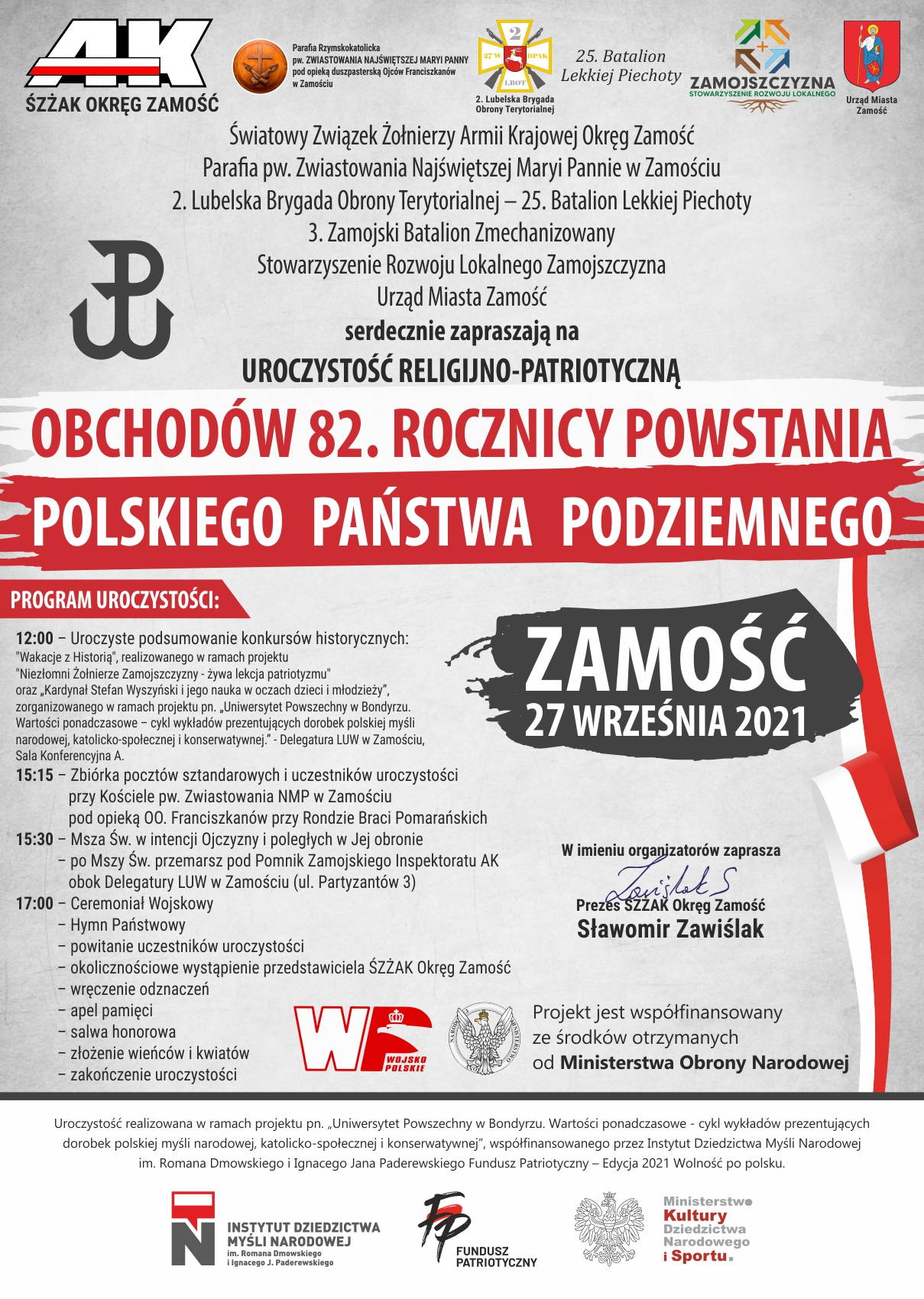 swieto panstwa podziemnego 2021 5 82. rocznica powstania Polskiego Państwa Podziemnego [PROGRAM]