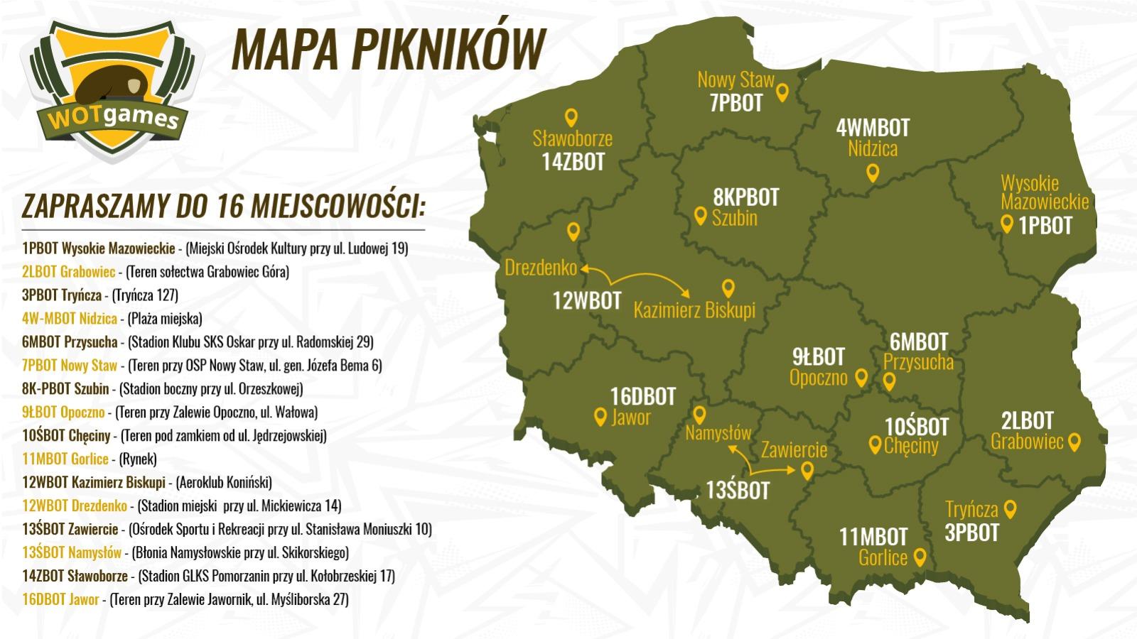 wotgames mapa piknikow WOTgames – rodzinny piknik sportowy w Grabowcu