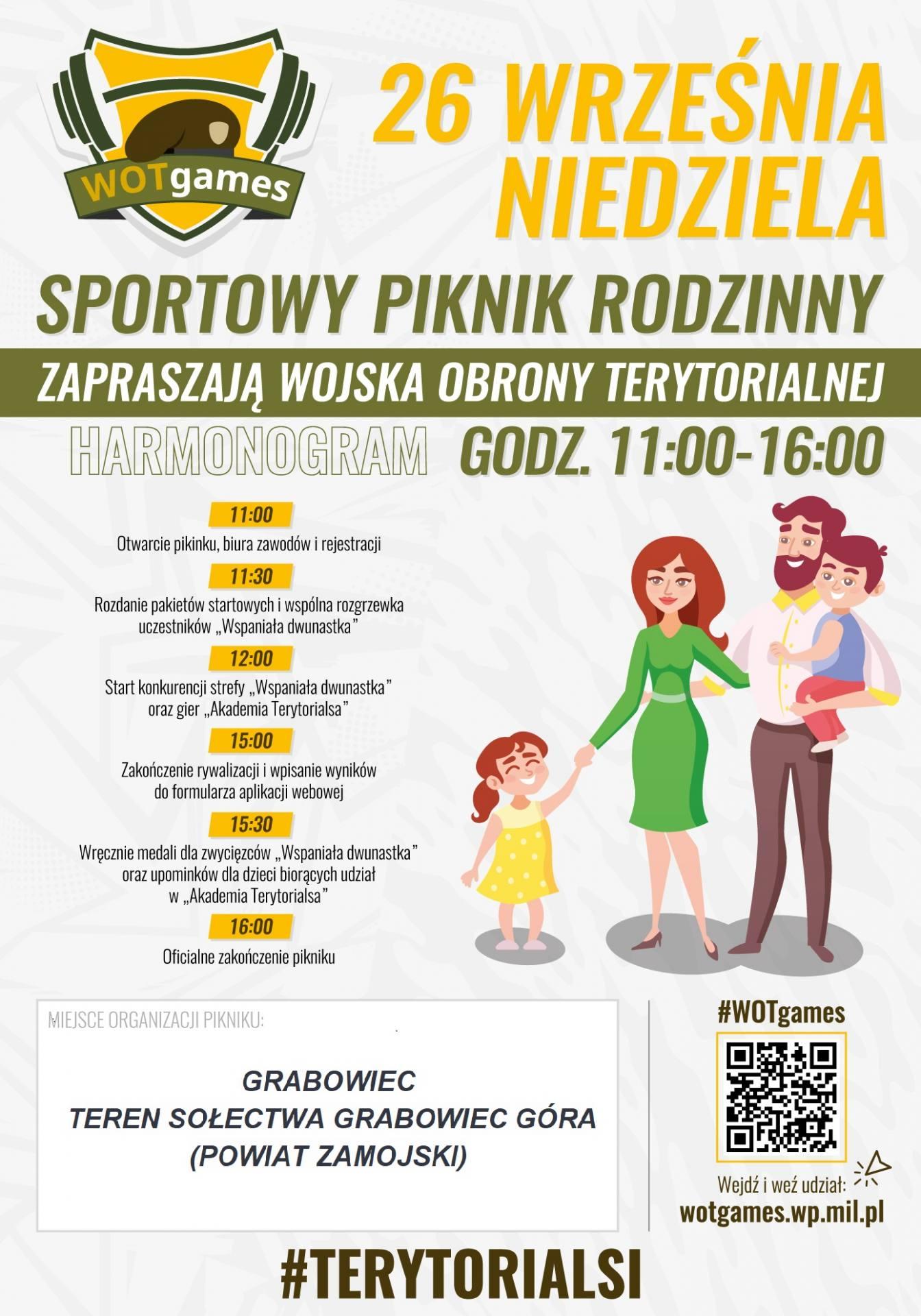 wotgames plakat WOTgames – rodzinny piknik sportowy w Grabowcu