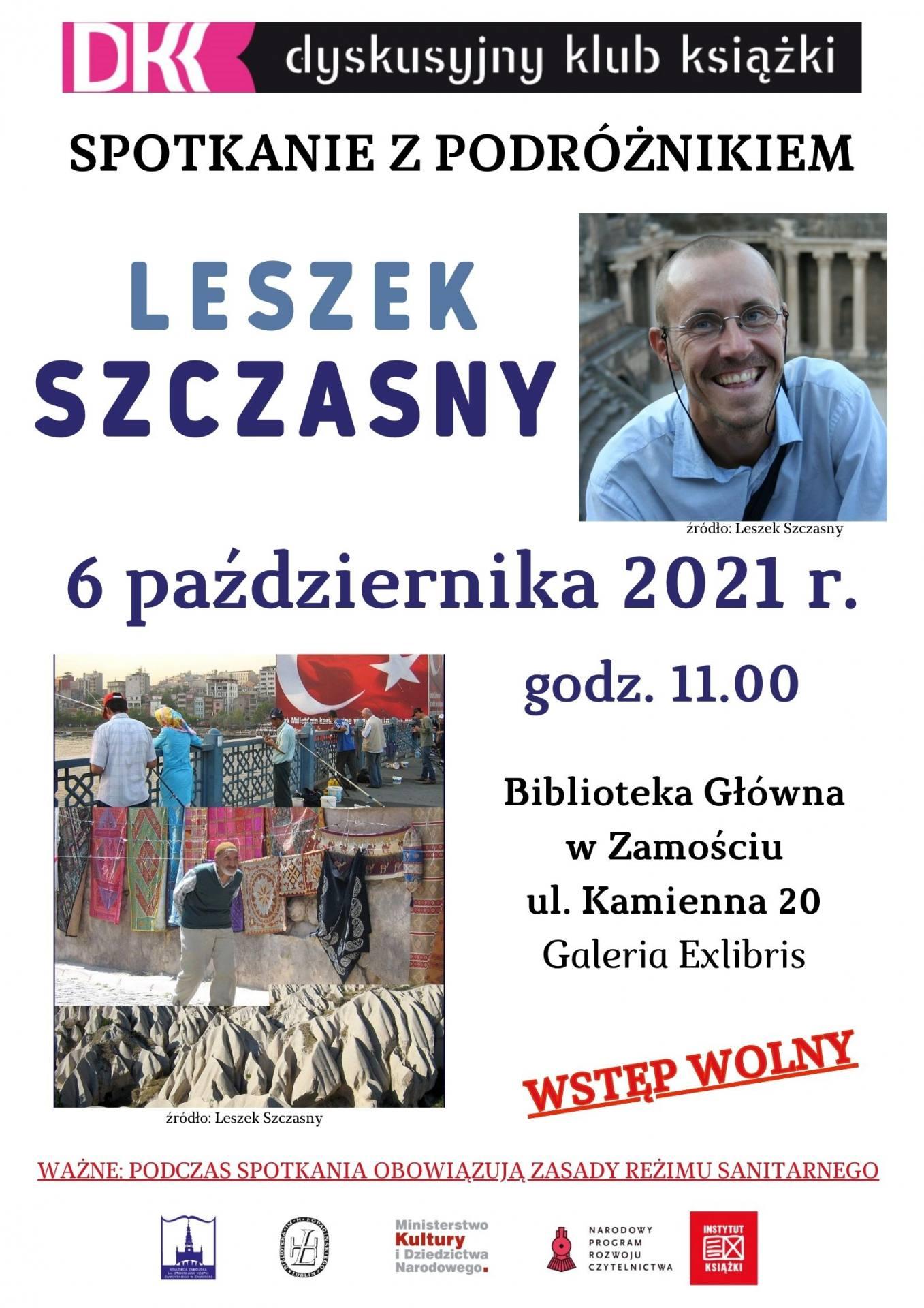 dkkpazdziernik2021 Spotkanie z podróżnikiem Leszkiem Szczasnym