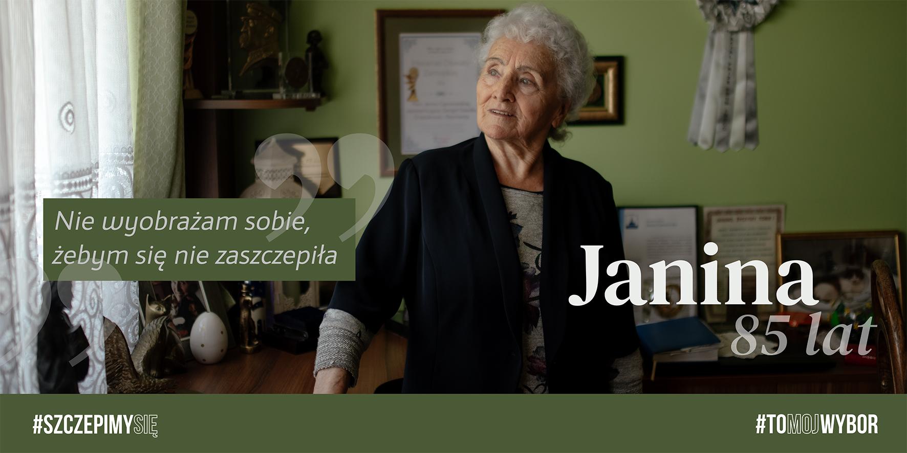 k5 Kampania proszczepionkowa w Zamościu. W roli głównej seniorzy.