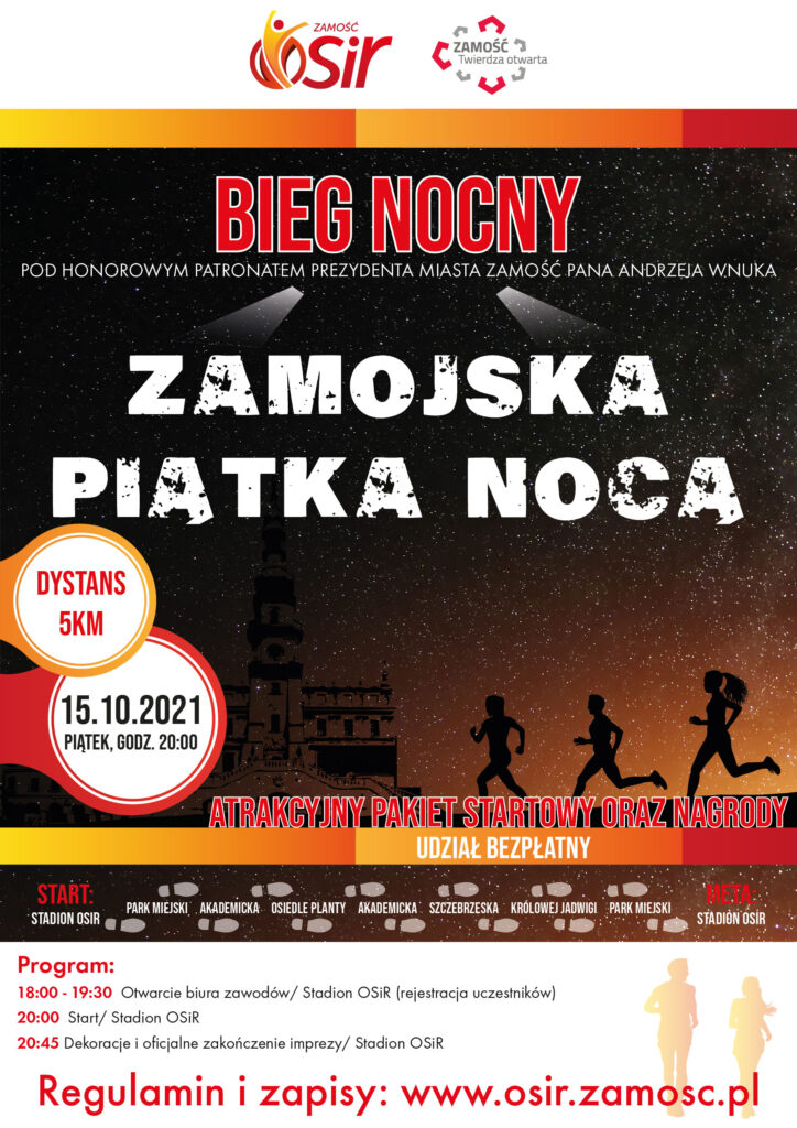 patronat v2 01 724x1024 1 Nocny bieg w Zamościu. Zgłoś się do udziału.