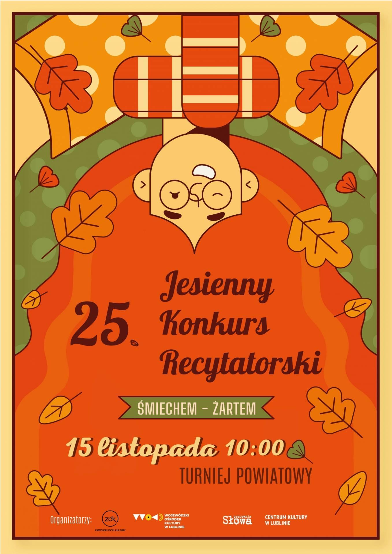 plakat powiat Jesienny Konkurs Recytatorski w ZDK